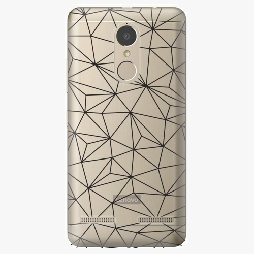 Plastový kryt iSaprio - Abstract Triangles 03 - black - Lenovo K6
