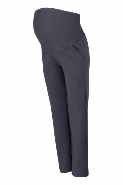 Těhotenské kalhoty s elastickým pásem a kapsami