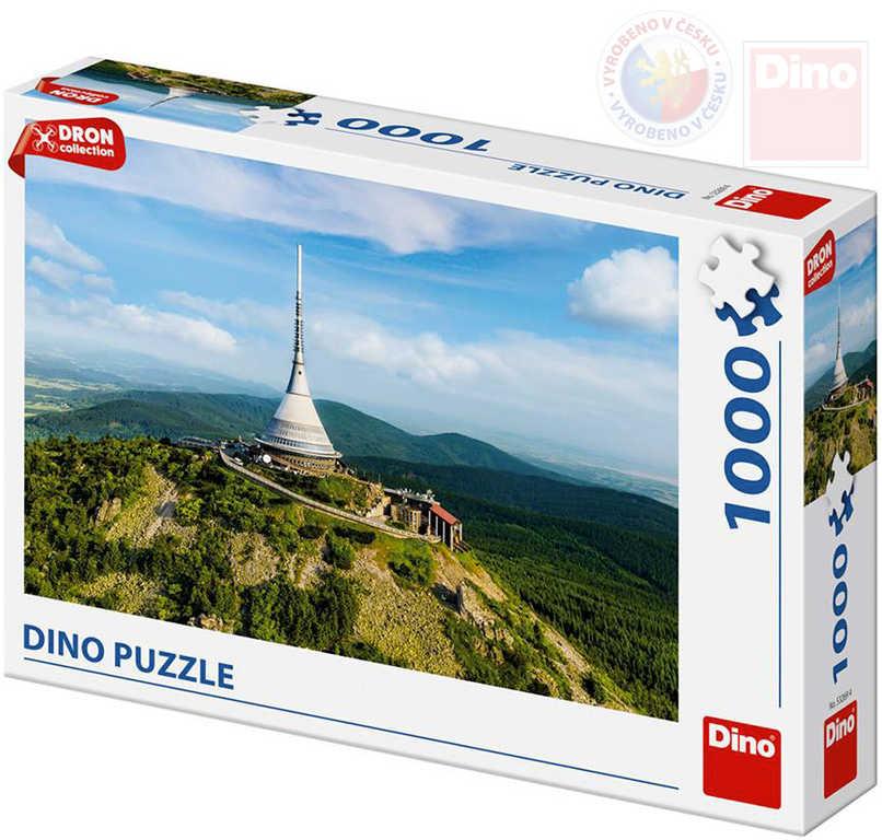 DINO Puzzle 1000 dílků Ještěd dron collection 66x47cm skládačka v krabici