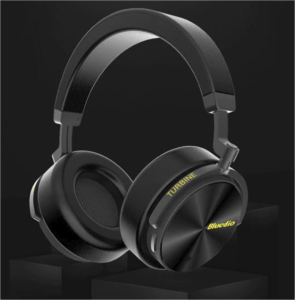 Náhlavní bluetooth sluchátka Bluedio T5 - Černá