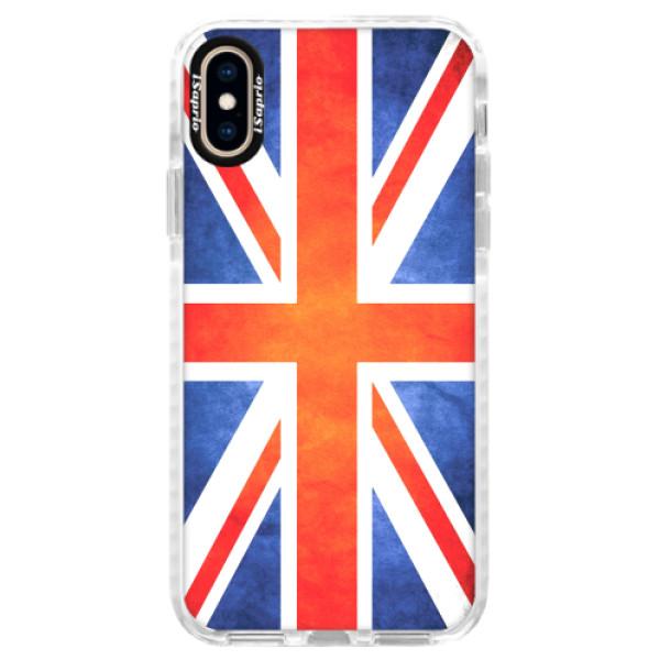 Silikonové pouzdro Bumper iSaprio - UK Flag - iPhone XS