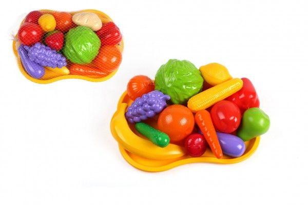 Ovoce a zelenina s podnosem plast v síťce 32x11x23cm
