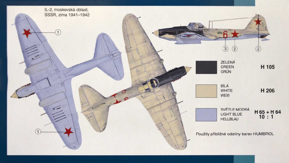 SMĚR Model letadlo Iljušin IL -2 HI Te 1:72 (stavebnice letadla)