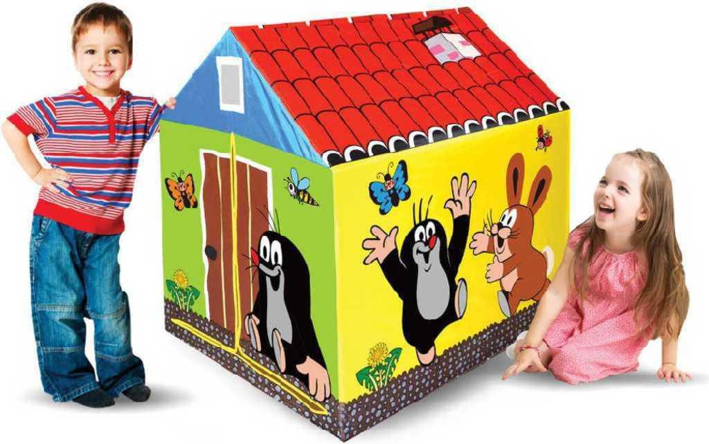 KRTEK Domek dětský skládací Krteček 102x95x72cm plastová konstrukce