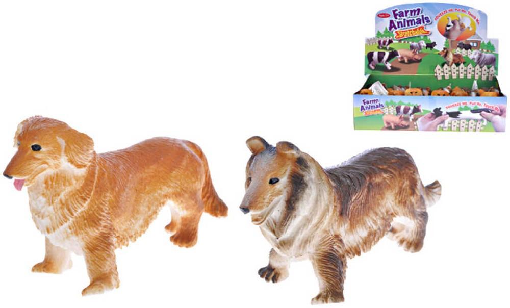 Pes pružný měkký 15 cm natahovací - 2 druhy