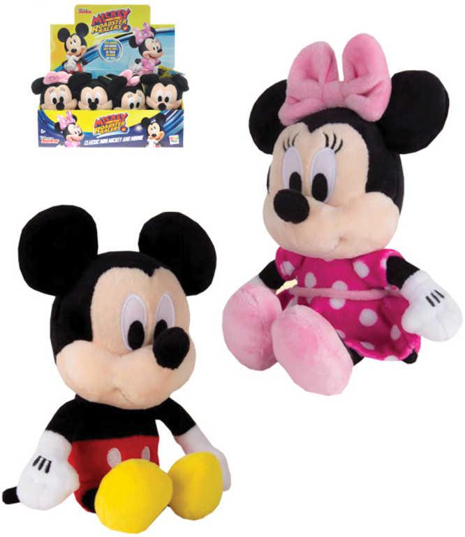 PLYŠ Minnie/Mickey 20 cm na baterie - 2 druhy