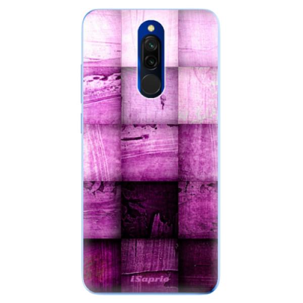 Odolné silikonové pouzdro iSaprio - Purple Squares - Xiaomi Redmi 8
