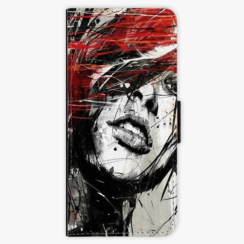 Flipové pouzdro iSaprio - Sketch Face - Samsung Galaxy Note 8