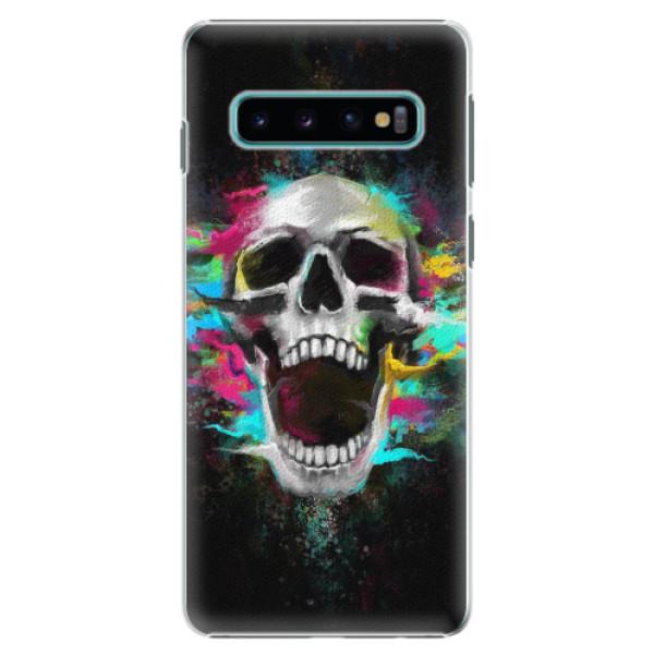 Plastové pouzdro iSaprio - Skull in Colors - Samsung Galaxy S10