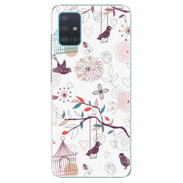 Plastové pouzdro iSaprio - Birds - Samsung Galaxy A51