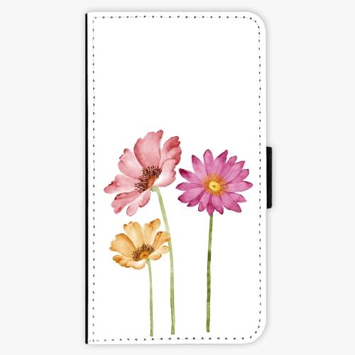 Flipové pouzdro iSaprio - Three Flowers - Samsung Galaxy J1 2016