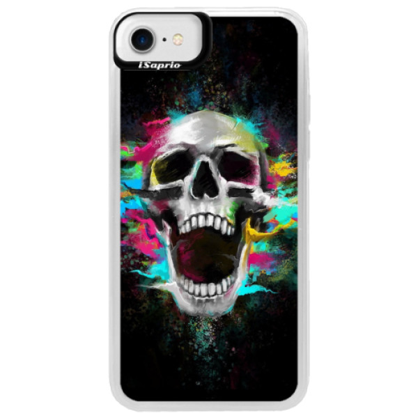 Neonové pouzdro Blue iSaprio - Skull in Colors - iPhone 7