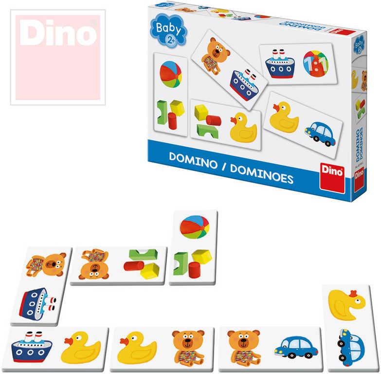 DINO Hra baby domino obrázkové pro miminko