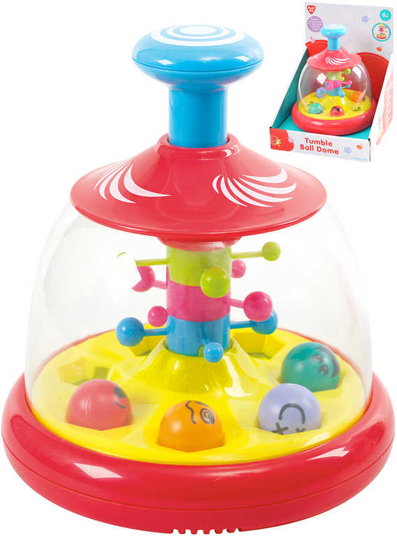 Baby veselý kolotoč s míčky plast 18cm pro miminko