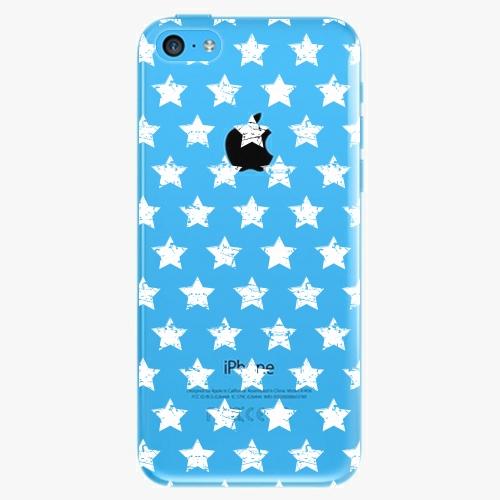Plastový kryt iSaprio - Stars Pattern - white - iPhone 5C