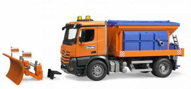 BRUDER 03685 (3685) MB Arocs Mercedes Benz zimní údržba