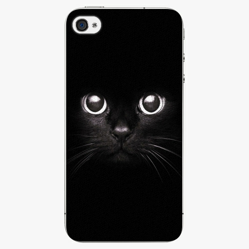 Plastový kryt iSaprio - Black Cat - iPhone 4/4S