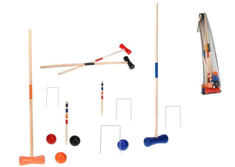 DŘEVO Hra kroket dřevěný v síťce *DŘEVĚNÉ HRAČKY*