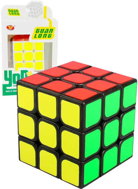Hra kostka magická Rubikova 5,5cm hlavolam plastový různé barvy