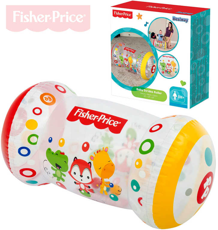 FISHER PRICE Baby válec nafukovací s míčky na lození transparentní