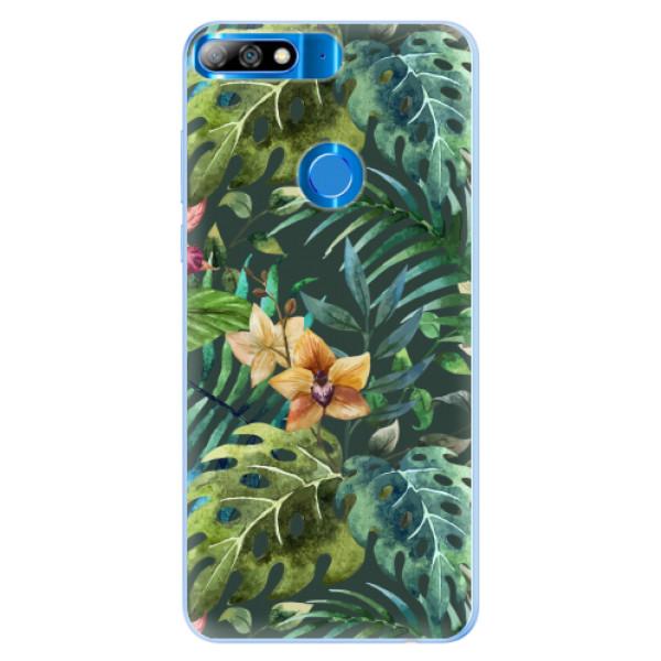 Silikonové pouzdro iSaprio - Tropical Green 02 - Huawei Y7 Prime 2018