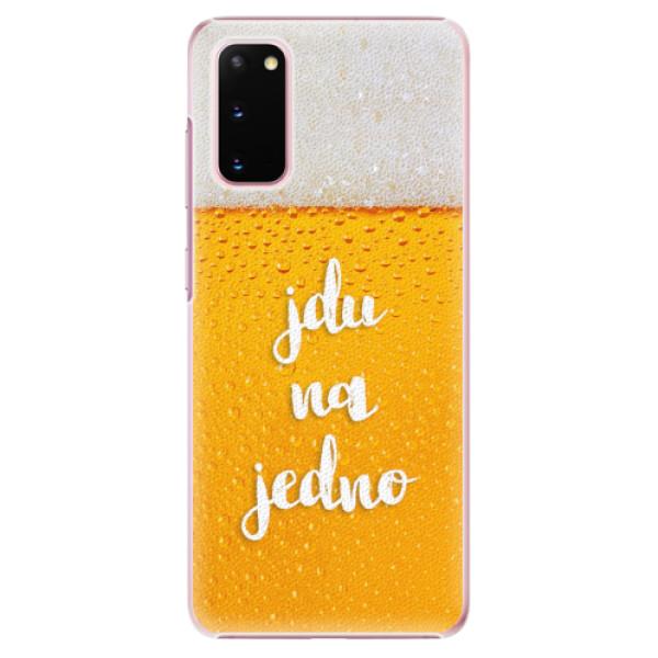 Plastové pouzdro iSaprio - Jdu na jedno - Samsung Galaxy S20