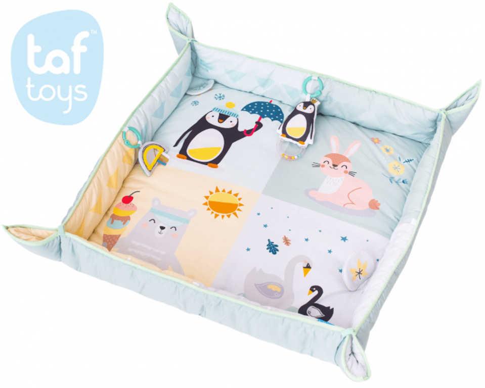 TAF TOYS Baby deka severní pól hrací koberec s aktivitami pro miminko