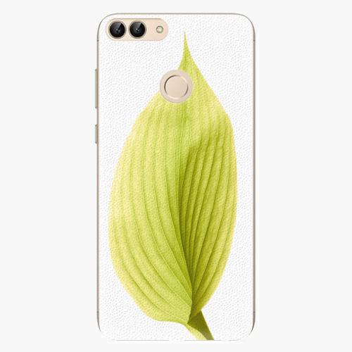 Silikonové pouzdro iSaprio - Green Leaf - Huawei P Smart