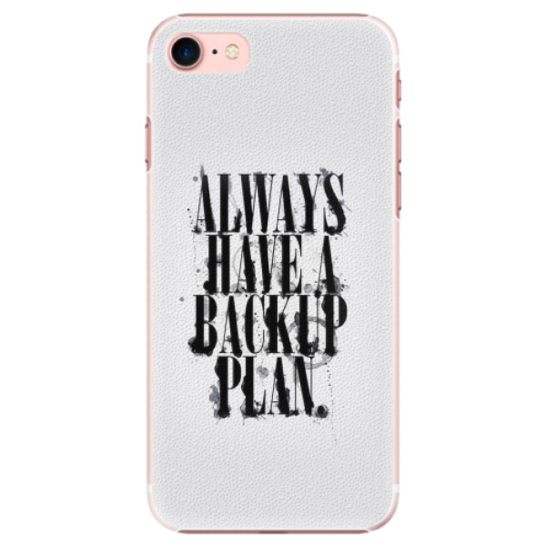 Plastové pouzdro iSaprio - Backup Plan - iPhone 7