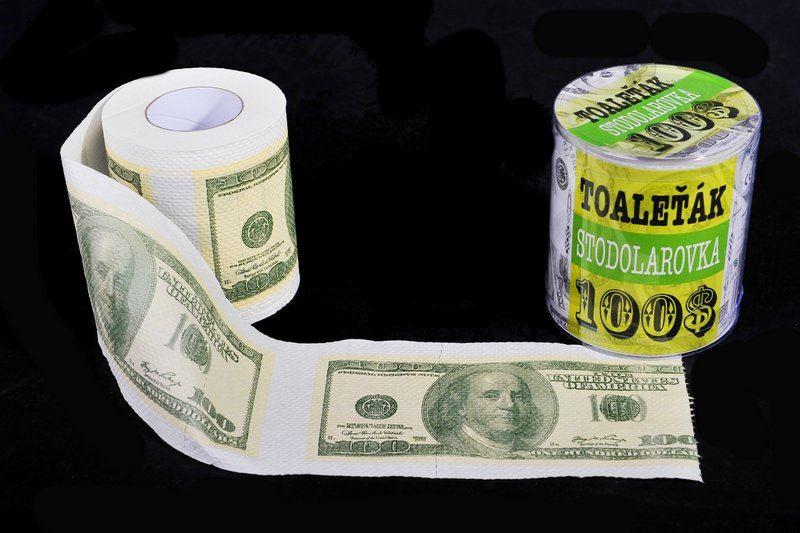 Toaletní papír - 100 Dolarovka