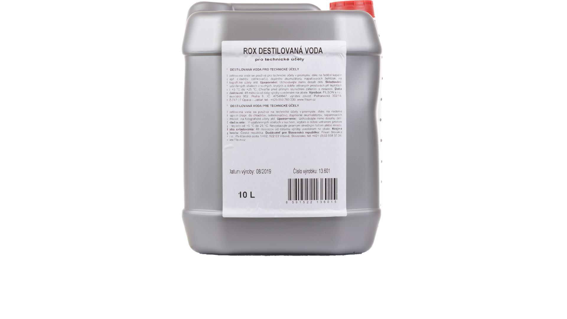 ROX destilovaná voda - 10l