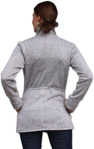 JOŽÁNEK Nosící fleecová mikina - pro nošení dítěte ve předu - šedý melír, vel.