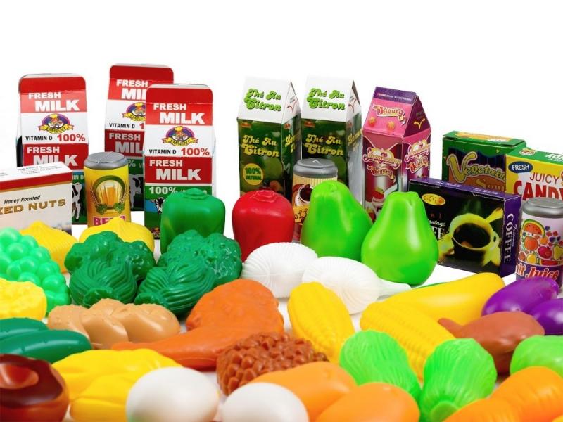 Plastová sada ovoce a zeleniny