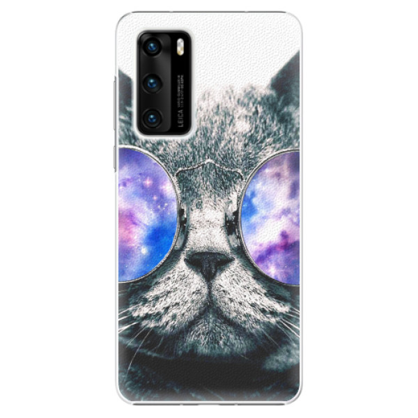Plastové pouzdro iSaprio - Galaxy Cat - Huawei P40