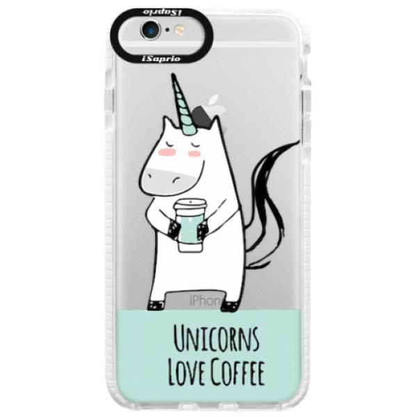 Silikonové pouzdro Bumper iSaprio - Unicorns Love Coffee - iPhone 6/6S
