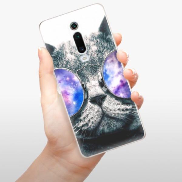 Odolné silikonové pouzdro iSaprio - Galaxy Cat - Xiaomi Mi 9T Pro