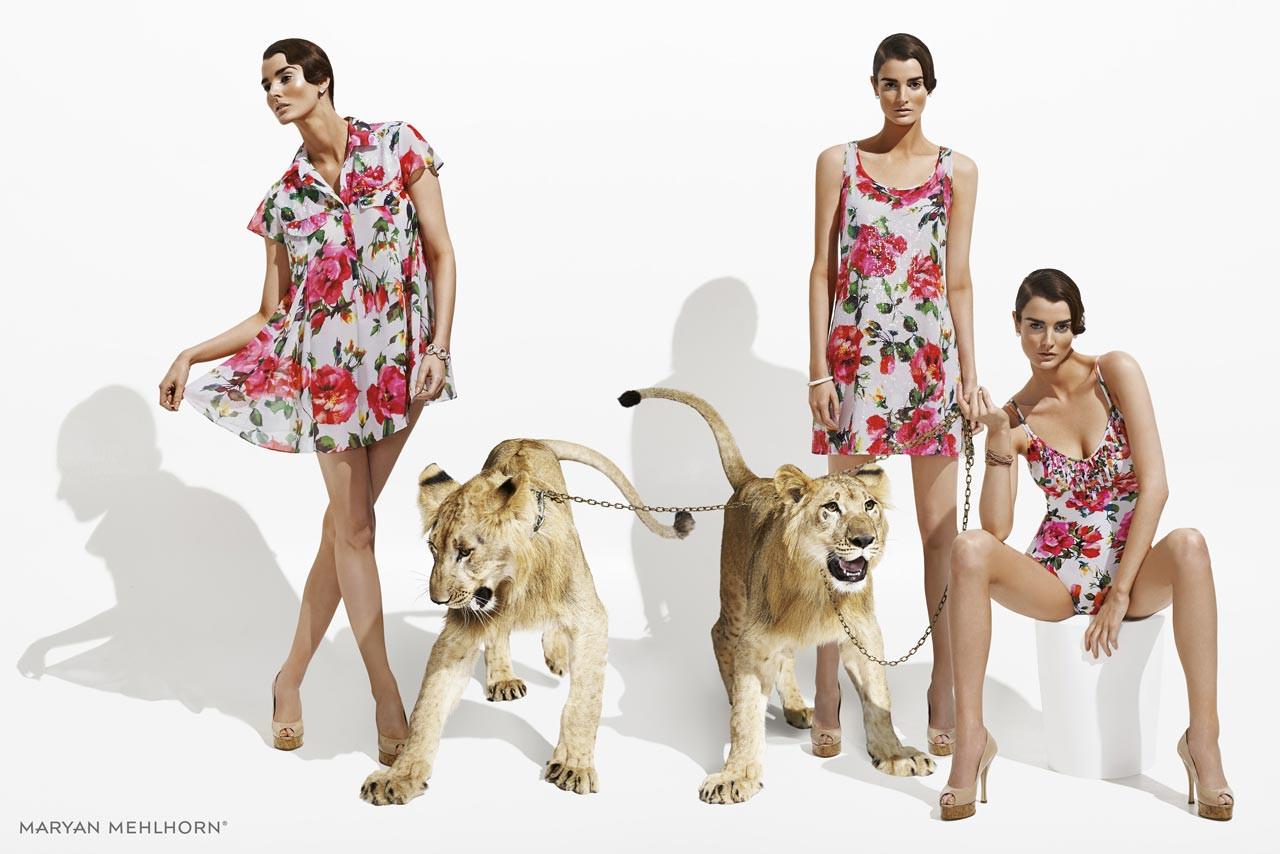Plážové šaty 3625 - Maryan Mehlhorn - Květinový