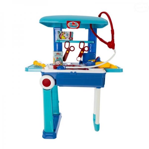 Dětský lékařský set v pojízdném kufříku