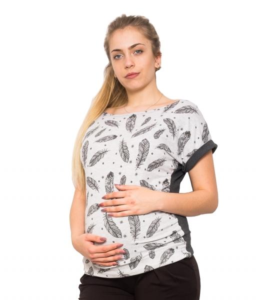Těhotenské triko/halenka Pírka