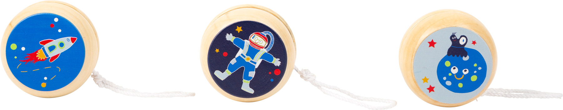 Small Foot Dřevěné jojo Space 1 ks modrá raketa