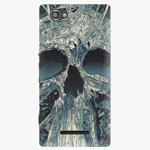 Plastový kryt iSaprio - Abstract Skull - Sony Xperia M