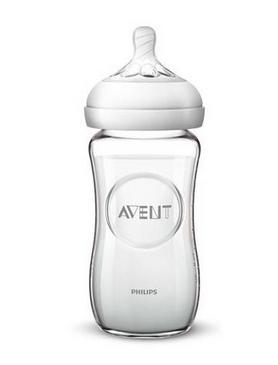 Dětská skleněná láhev Avent Natural, 240 ml