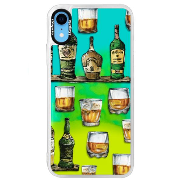 Neonové pouzdro Blue iSaprio - Whisky pattern - iPhone XR