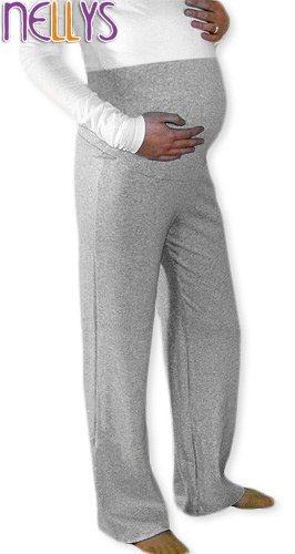 Be MaaMaa Těhotenské tepláky - šedý