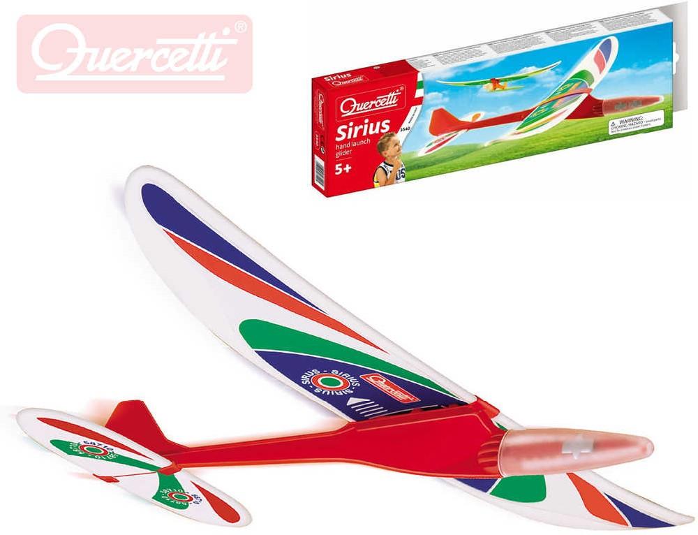 QUERCETTI Sirius II letadlo házecí model kluzák v krabičce