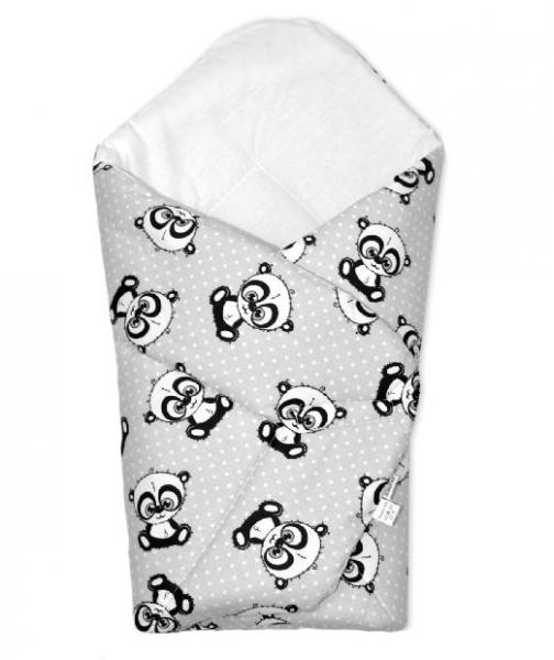 Novorozenecká zavinovačka Cute Animals, 75x75 cm, Baby Nellys - šedá