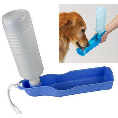 Cestovní láhev pro psy - modrá