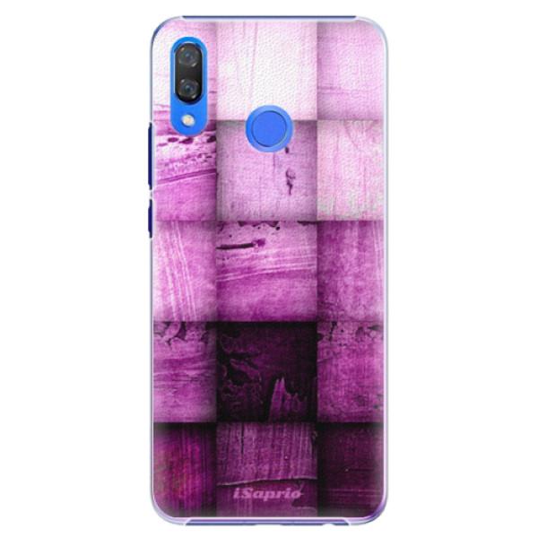 Plastové pouzdro iSaprio - Purple Squares - Huawei Y9 2019