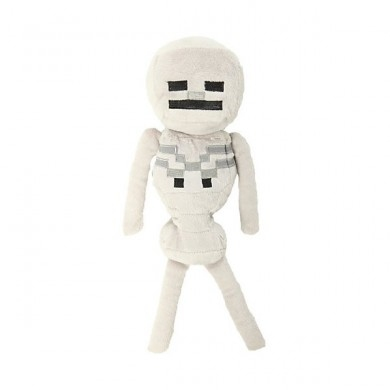 Plyšák Minecraft skeleton bílý - 24 cm