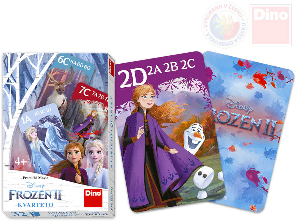 DINO Hra karetní Kvarteto Frozen II (Ledové Království) *SPOLEČENSKÉ HRY*